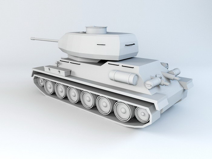 Tank Modeling 3d rendering