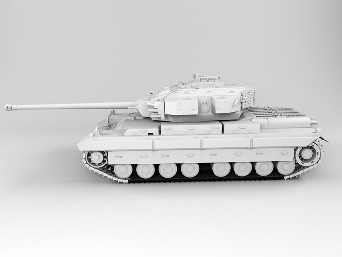 German Super Heavy Tank 3d rendering