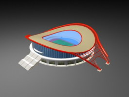 Stadium Architecture 3d preview