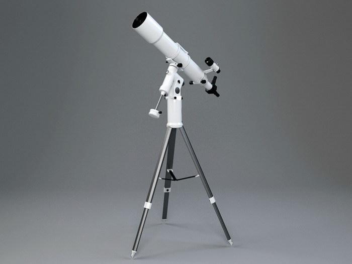 Astronomical Telescope 3d rendering