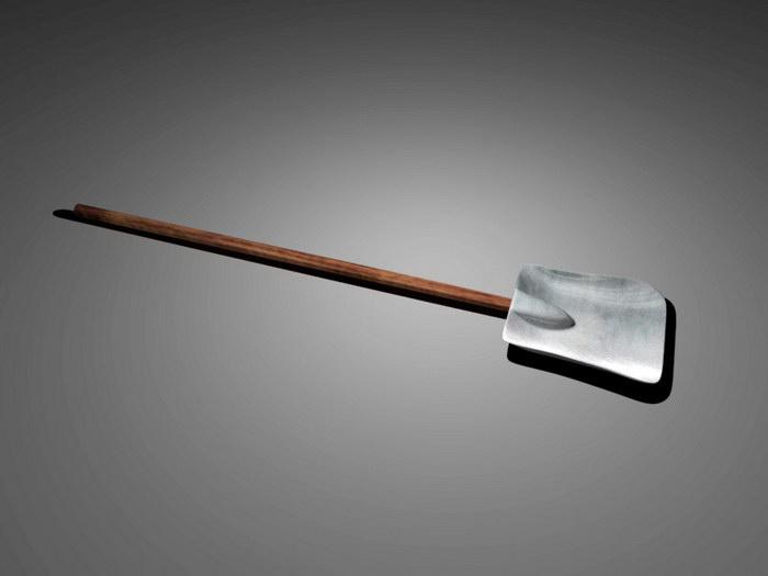 Square Shovel 3d rendering