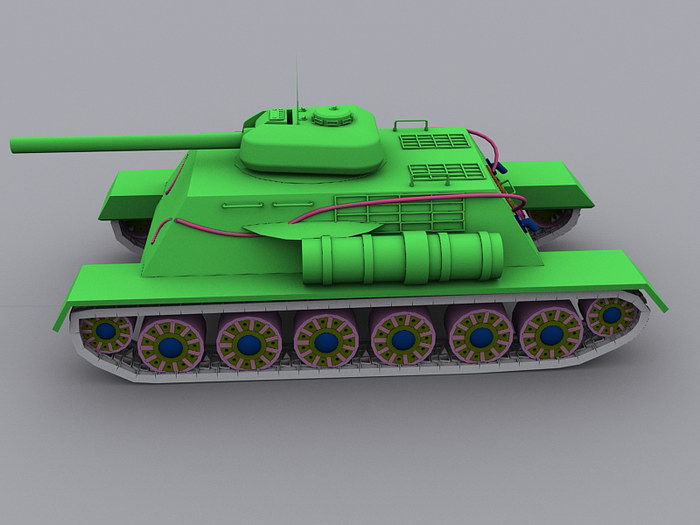 War Tank 3d rendering