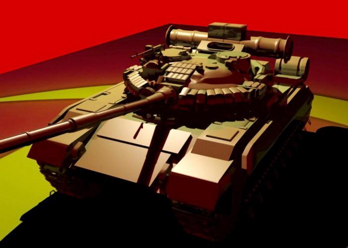Soviet Union T-80 Tank 3d rendering