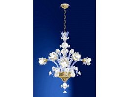 White Flower Chandelier 3d preview