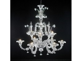 Vintage Dining Room Chandelier 3d preview