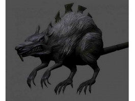 Mouse Monster Fantasy Creature 3d preview