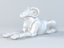 Goat Sculpture 3d preview