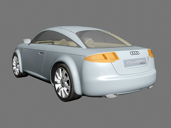 Audi Nuvolari quattro 3d rendering