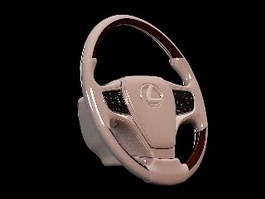 Lexus Steering Wheel 3d preview