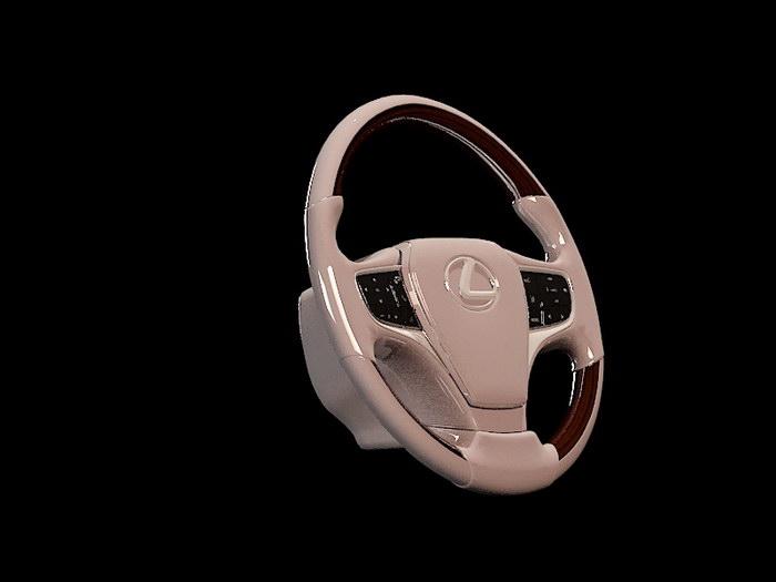 Lexus Steering Wheel 3d rendering