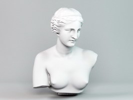 Aphrodite Head Bust Sculpture 3d preview