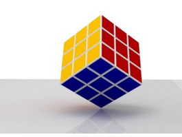 Rubik's Cube 3d preview