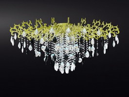 Vintage Crystal Drop Chandelier 3d preview
