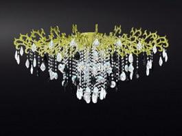Vintage Crystal Drop Chandelier 3d preview