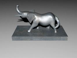 Vintage Elephant Statue 3d preview