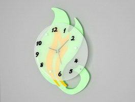 Modern Swan Wall Clock 3d preview