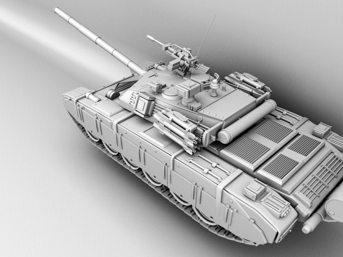 Chinese Type 99 Tank 3d rendering