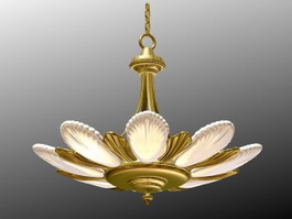 Antique Art Deco Pendant Light 3d preview