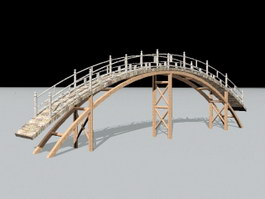 Old Small Wooden Bridge 3d preview