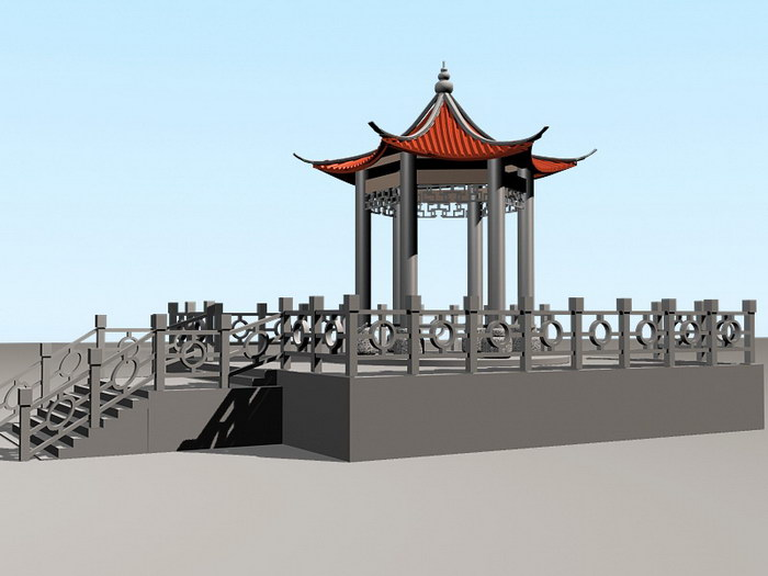 Landscape Pavilion 3d rendering