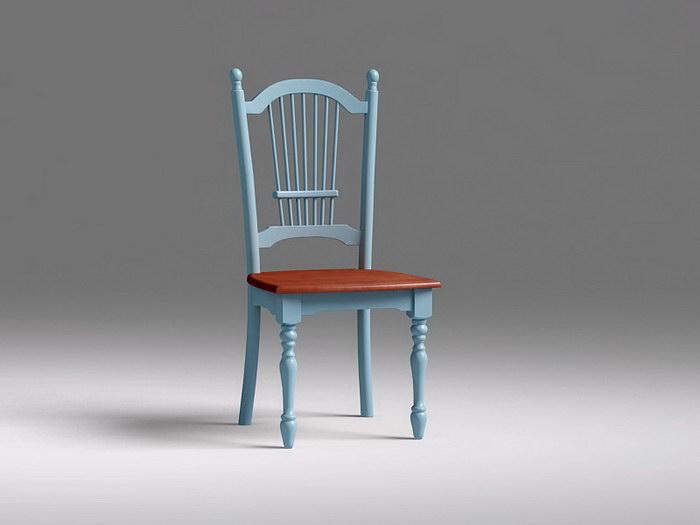 Vintage Dining Chair 3d rendering