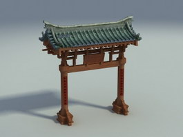 Chinese Paifang Gate 3d preview