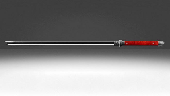 Tang Dynasty Sword 3d rendering