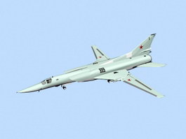 Tu-22M Supersonic Bomber 3d preview