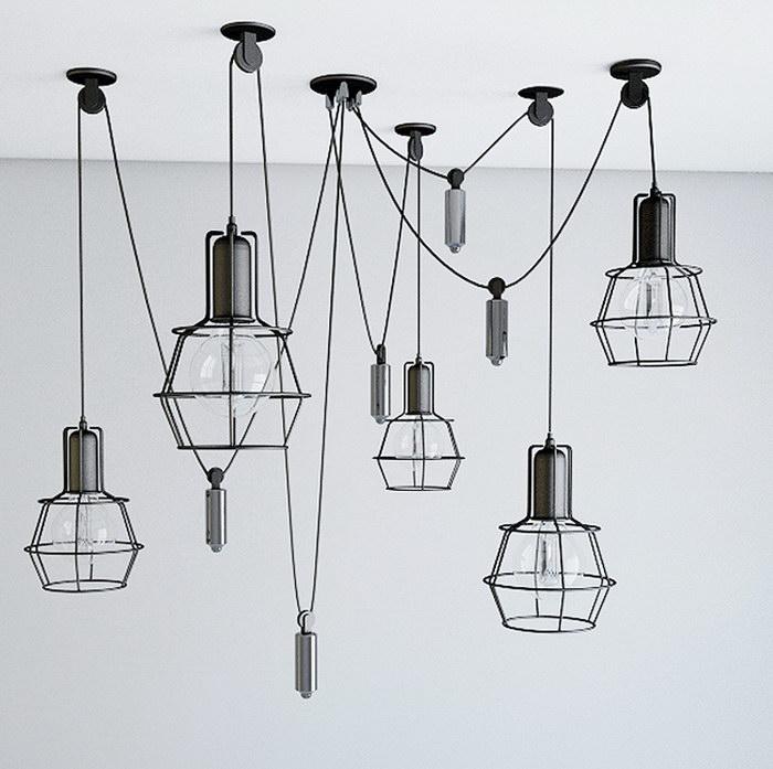 Industrial Ceiling Light Fixture Pendant Lighting 3d rendering