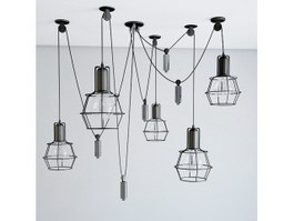 Industrial Ceiling Light Fixture Pendant Lighting 3d preview