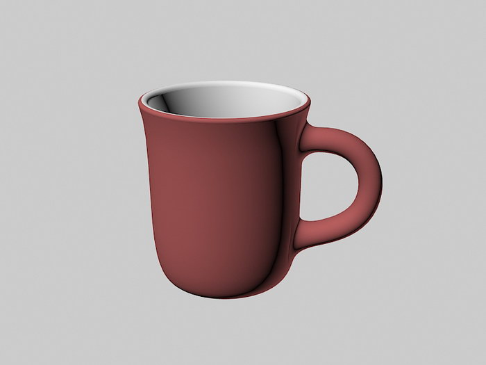 Pottery Coffee Mug 3d rendering