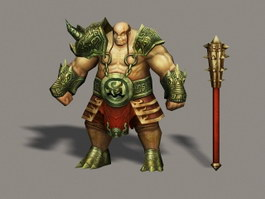 Ancient Barbarian Warrior 3d preview