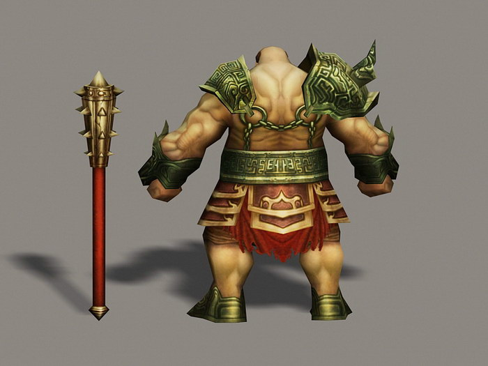 Ancient Barbarian Warrior 3d rendering