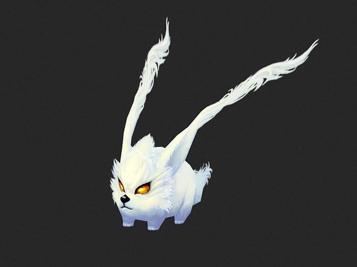 Winged Cute Monster 3d rendering