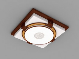 LED Flush Mount Ceiling Light 3d preview