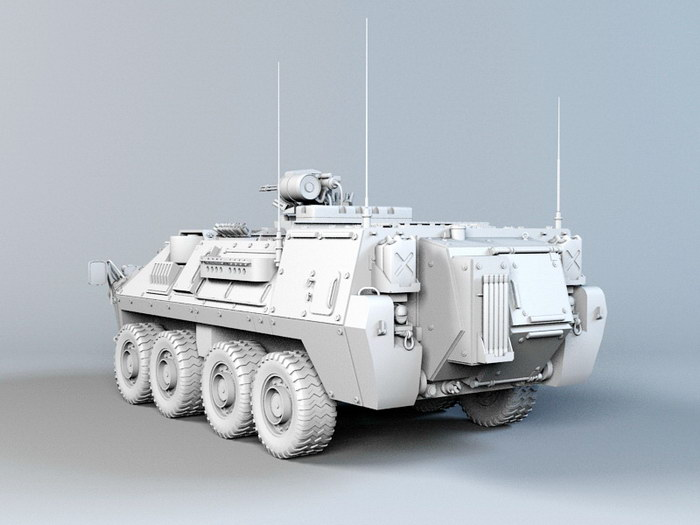 Modern APC Infantry Fighting Vehicle 3d rendering