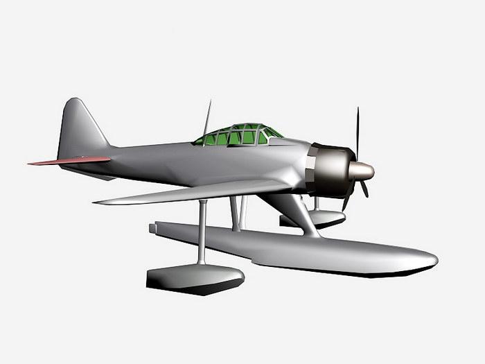 A6M2-N Fighter-Bomber Floatplane 3d rendering