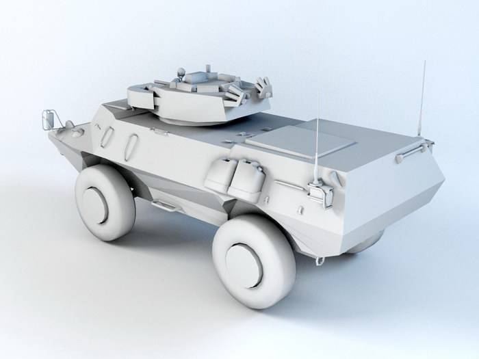 ASV Military Vehicle 3d rendering
