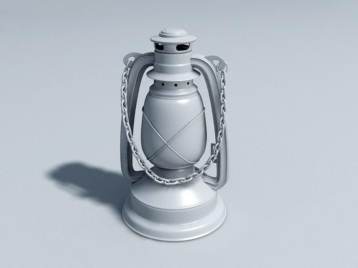 Antique Lantern 3d rendering