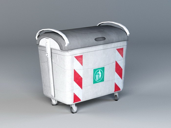 Garbage Container 3d rendering