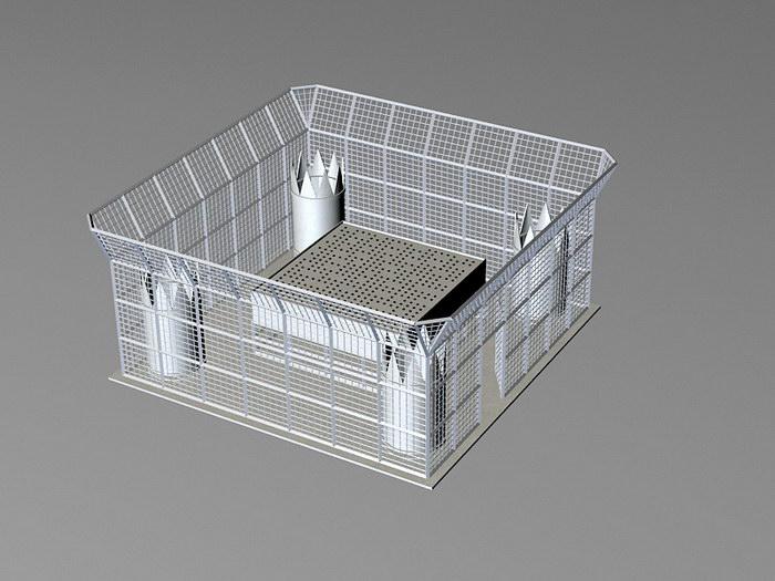 Radar Wind Profiler 3d rendering