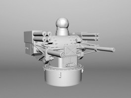 Warship Automated Anti-aircraft Warfare System 3d preview