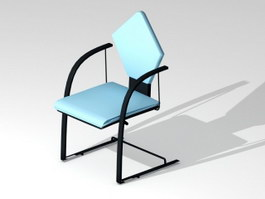 Blue Cantilever Chair 3d preview