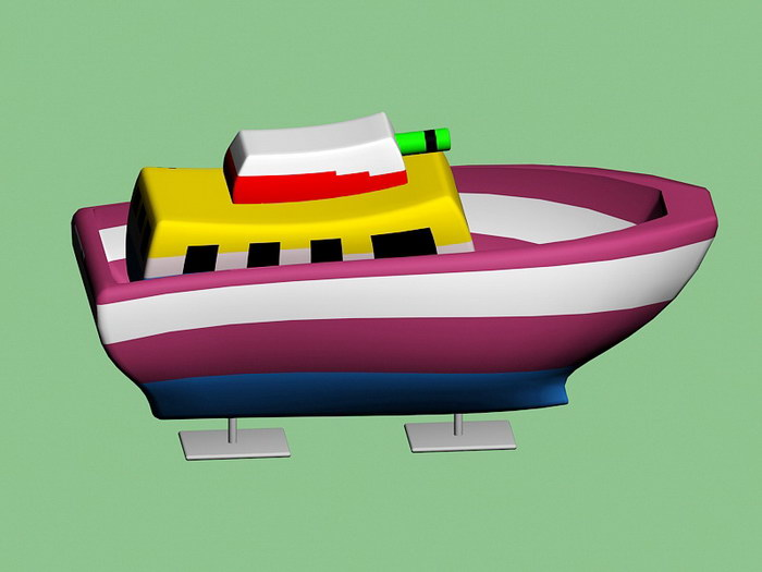 Toy Army Ship 3d rendering