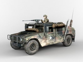 Armored HMMWV U.S. Army Infantry Soldier 3d preview