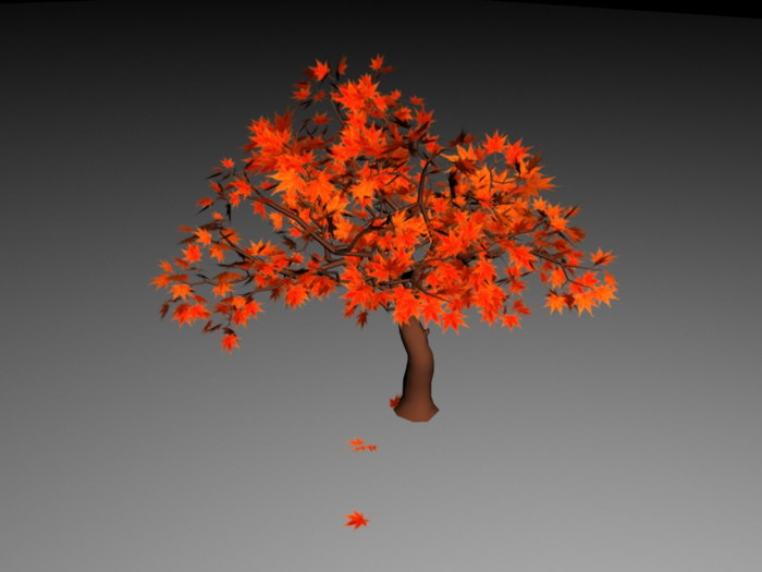 Fall Maple Tree 3d rendering
