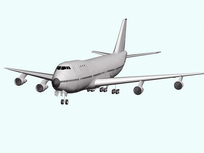 Boeing 747 Jet Airliner 3d rendering