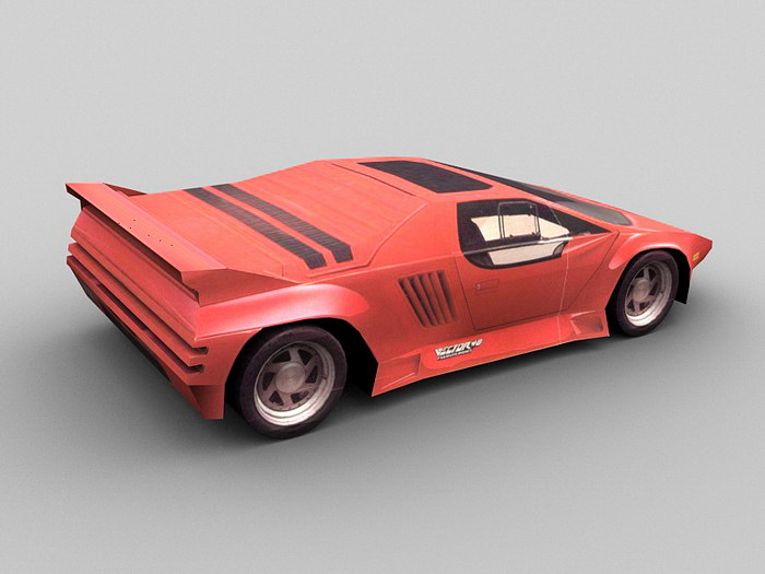 1989 Vector W8 Car 3d rendering