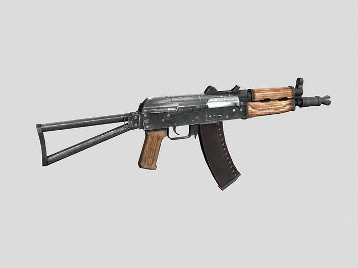 Russian AKS 74U 3d rendering