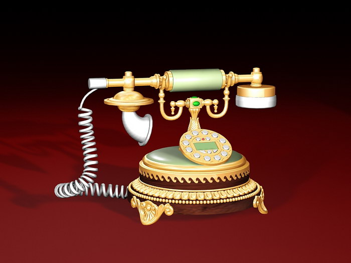 Vintage Desk Phone 3d rendering